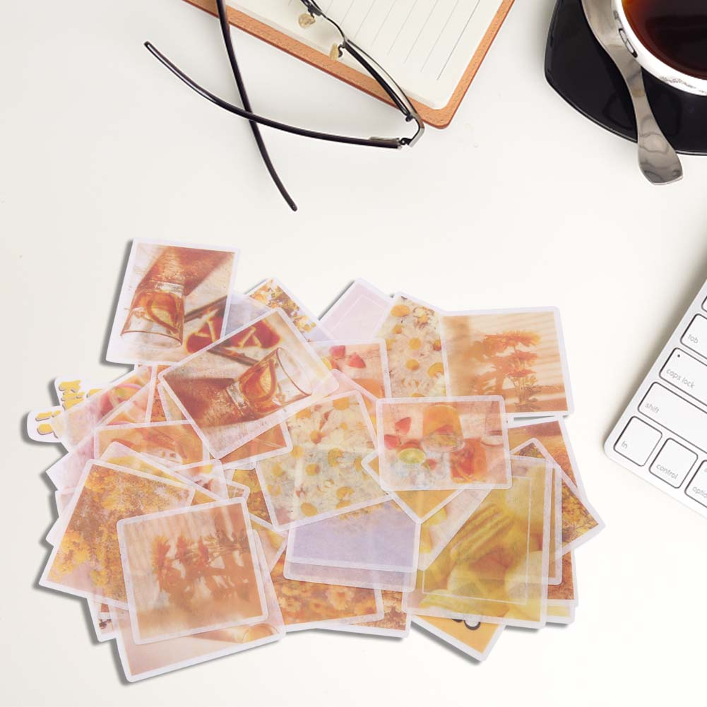 60Pcs-set-DIY-Paper-Stickers-Label-Scrapbooking-Stickers-Journal-Diary-Stickers thumbnail 14