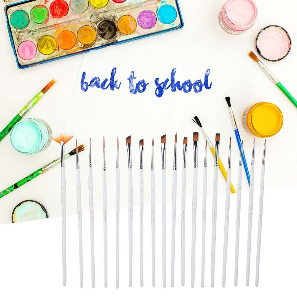 Multi-Types-Professional-Art-Artist-Paint-Brush-Set-Oil-Acrylic-Watercolour thumbnail 99