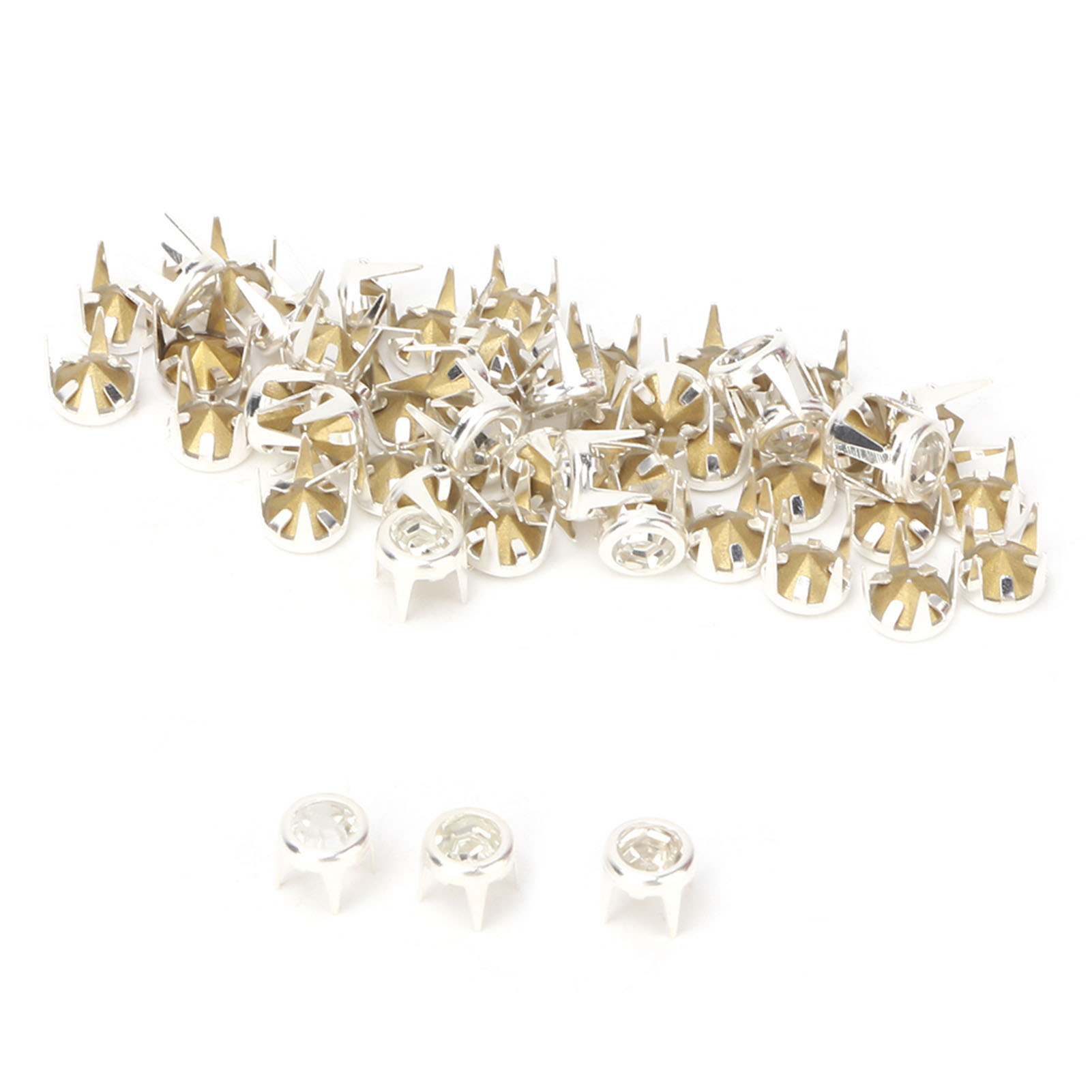 6-7-8-10mm-Rhinestone-Diamond-Crystal-Rivets-Studs-Leather-For-Bags-Shoe-Decor miniature 47