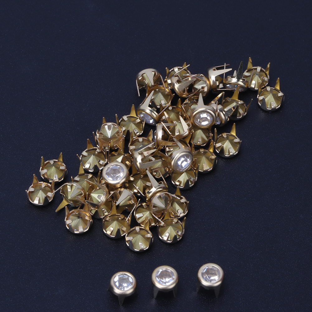 6-7-8-10mm-Rhinestone-Diamond-Crystal-Rivets-Studs-Leather-For-Bags-Shoe-Decor miniature 51