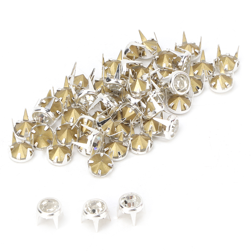 6-7-8-10mm-Rhinestone-Diamond-Crystal-Rivets-Studs-Leather-For-Bags-Shoe-Decor miniature 38