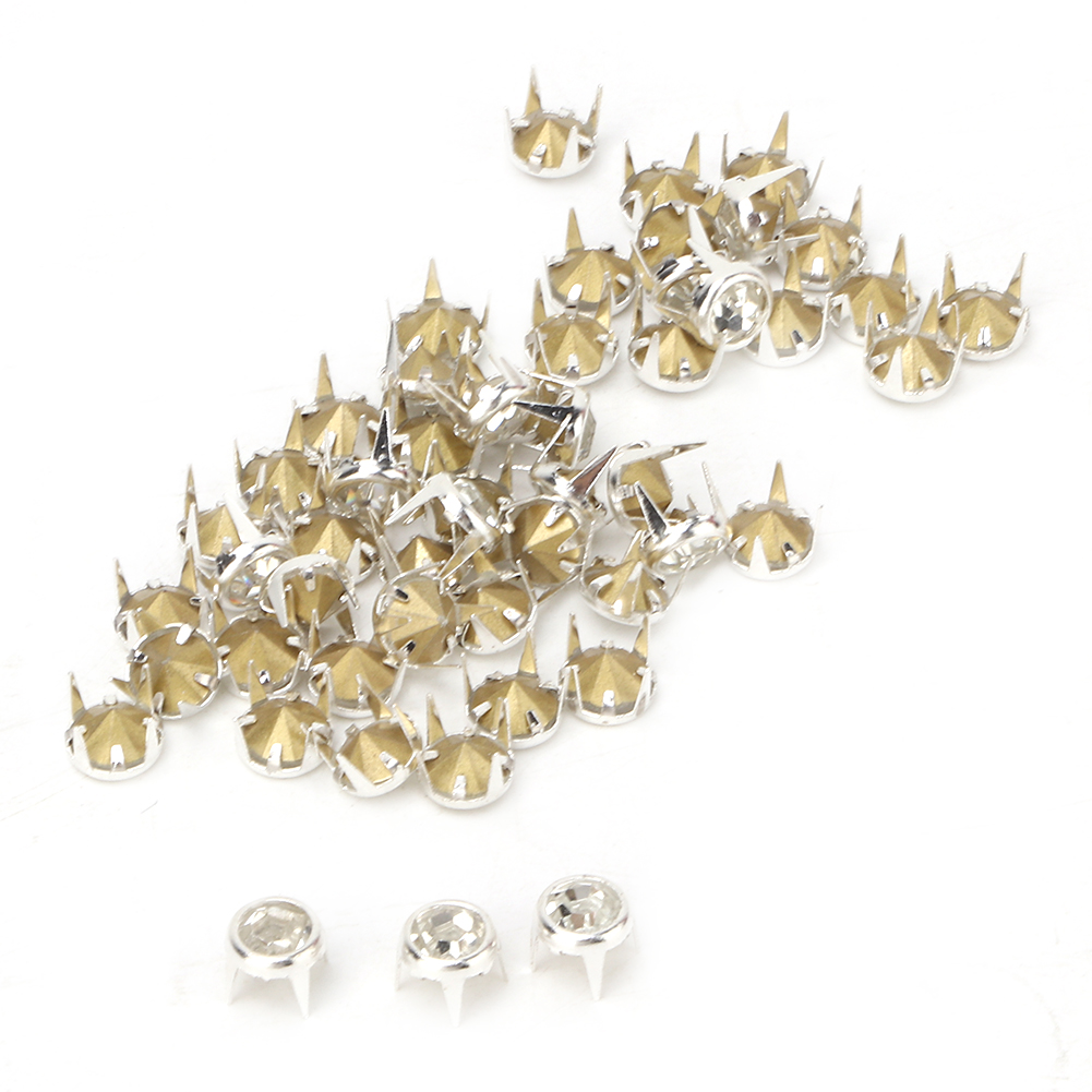 6-7-8-10mm-Rhinestone-Diamond-Crystal-Rivets-Studs-Leather-For-Bags-Shoe-Decor miniature 39