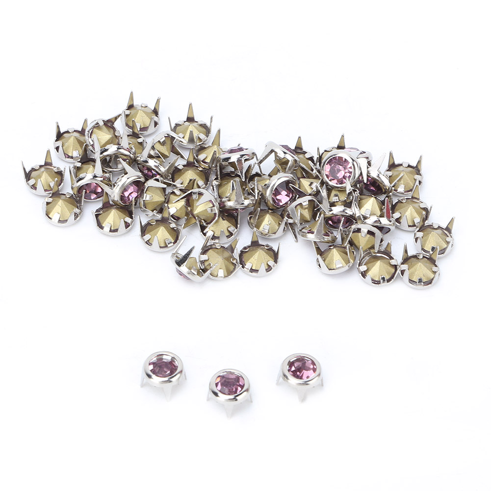 6-7-8-10mm-Rhinestone-Diamond-Crystal-Rivets-Studs-Leather-For-Bags-Shoe-Decor miniature 41