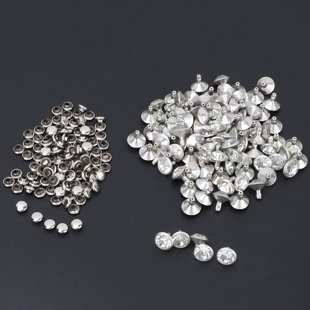 6-7-8-10mm-Rhinestone-Diamond-Crystal-Rivets-Studs-Leather-For-Bags-Shoe-Decor miniature 24