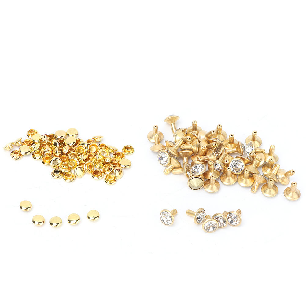6-7-8-10mm-Rhinestone-Diamond-Crystal-Rivets-Studs-Leather-For-Bags-Shoe-Decor miniature 14