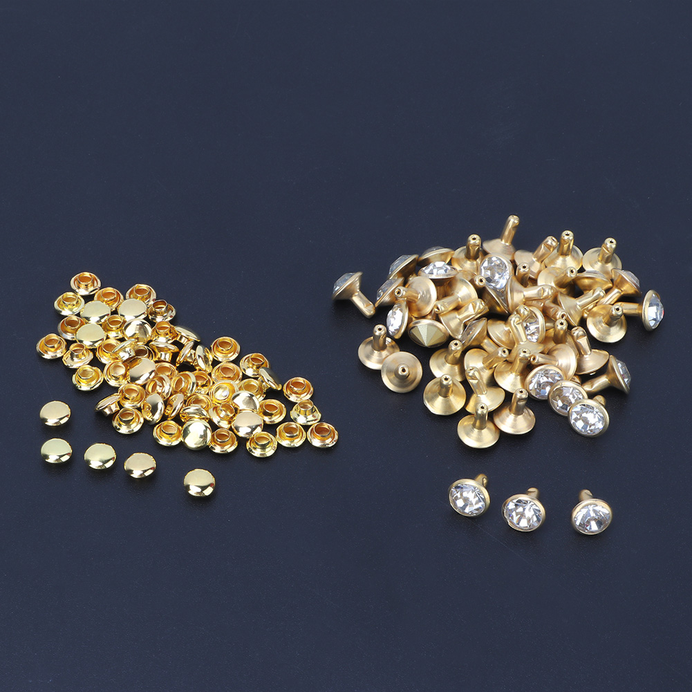 6-7-8-10mm-Rhinestone-Diamond-Crystal-Rivets-Studs-Leather-For-Bags-Shoe-Decor miniature 15