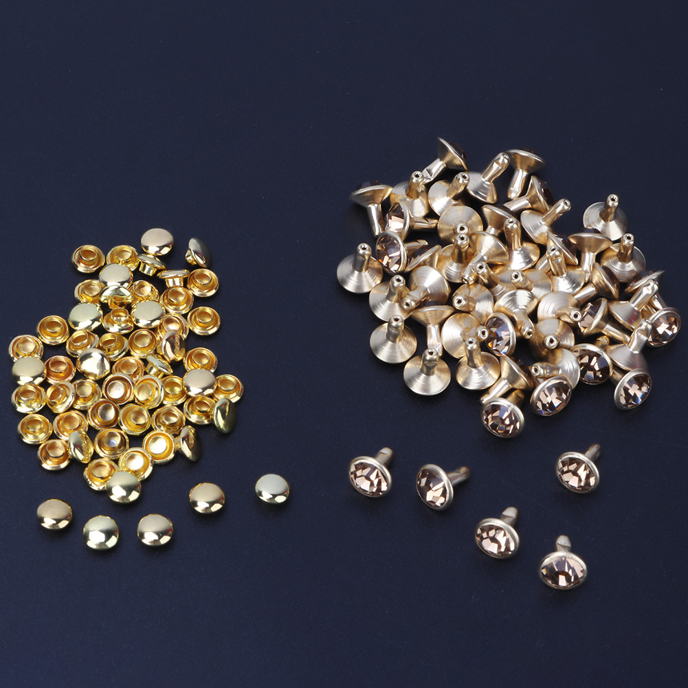 6-7-8-10mm-Rhinestone-Diamond-Crystal-Rivets-Studs-Leather-For-Bags-Shoe-Decor miniature 20