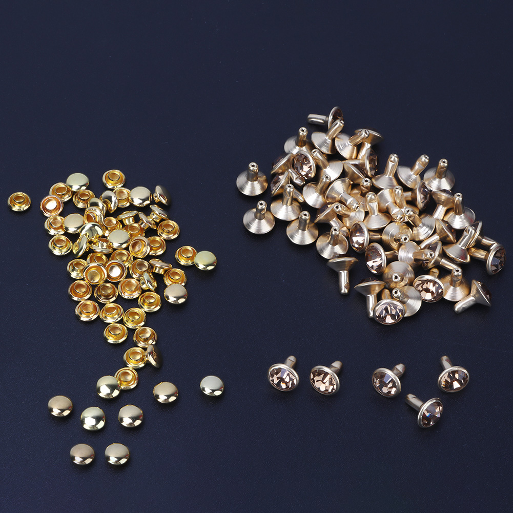 6-7-8-10mm-Rhinestone-Diamond-Crystal-Rivets-Studs-Leather-For-Bags-Shoe-Decor miniature 21