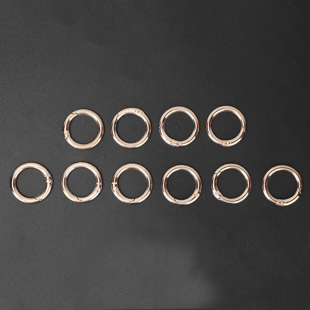 DIY-Alloy-Snap-Clasp-Round-Ring-Conecting-Buckle-Clothes-Handbag-Accessories thumbnail 11