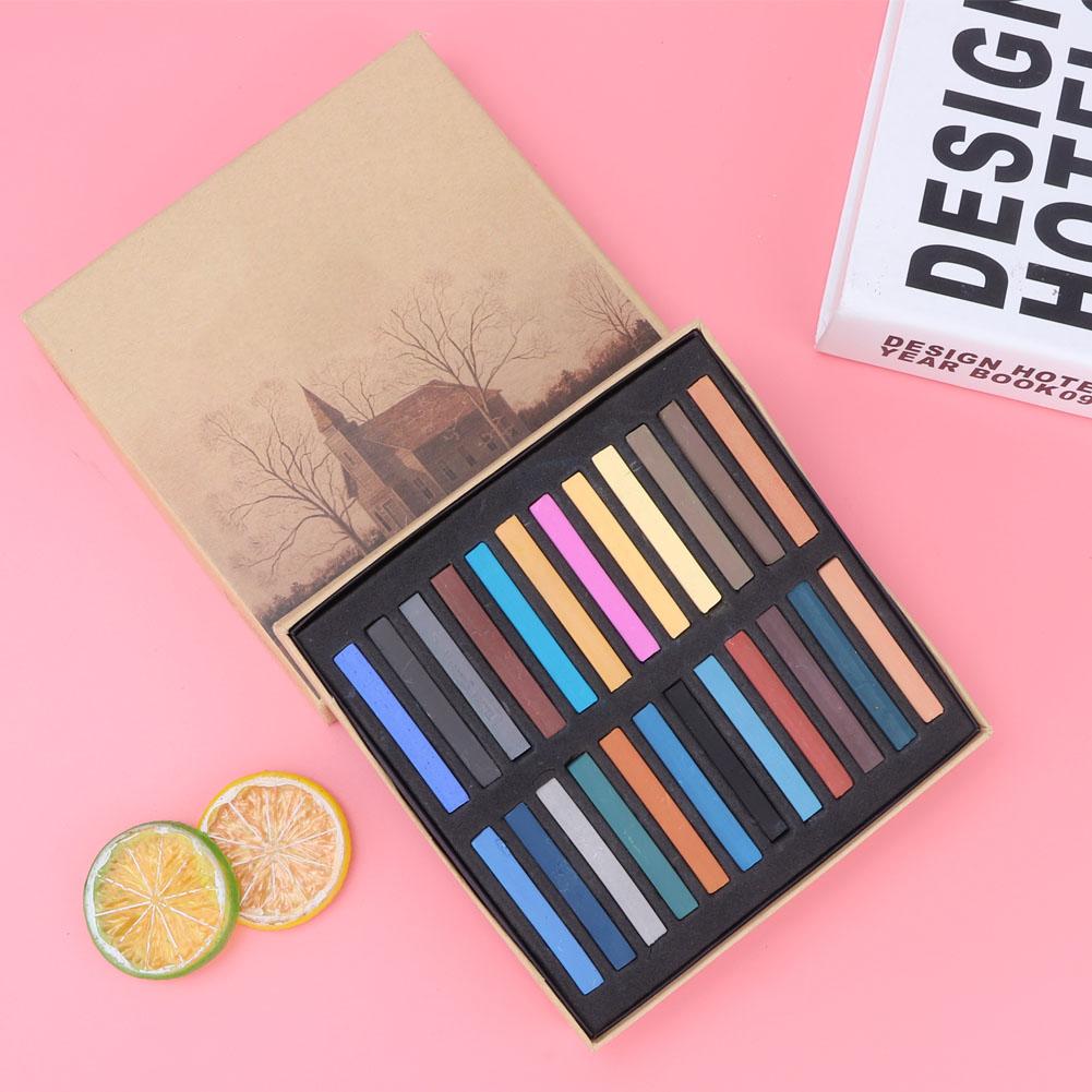 Sketch-Drawing-Art-Set-Painting-Color-Artist-Kit-Pencil-Pastel-12-24-36-48-Color thumbnail 19