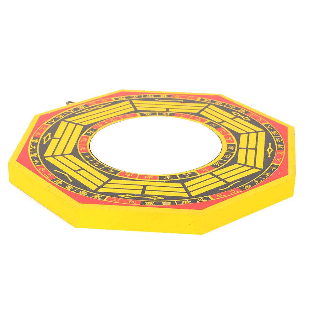Biitfuu Specchio Feng Shui 4 Pollici-concavo Tradizionale Lucky Feng Shui Specchio Cinese Convesso in Legno Bagua Specchio concavo Bagua per Affari Domestici Buona Fortuna
