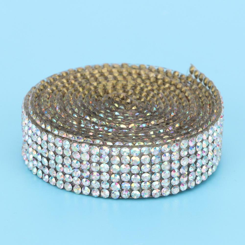 Diamond-Crystal-Glass-Mesh-Banding-Iron-On-Clothes-Wedding-Dress-Trim-Accessory thumbnail 11