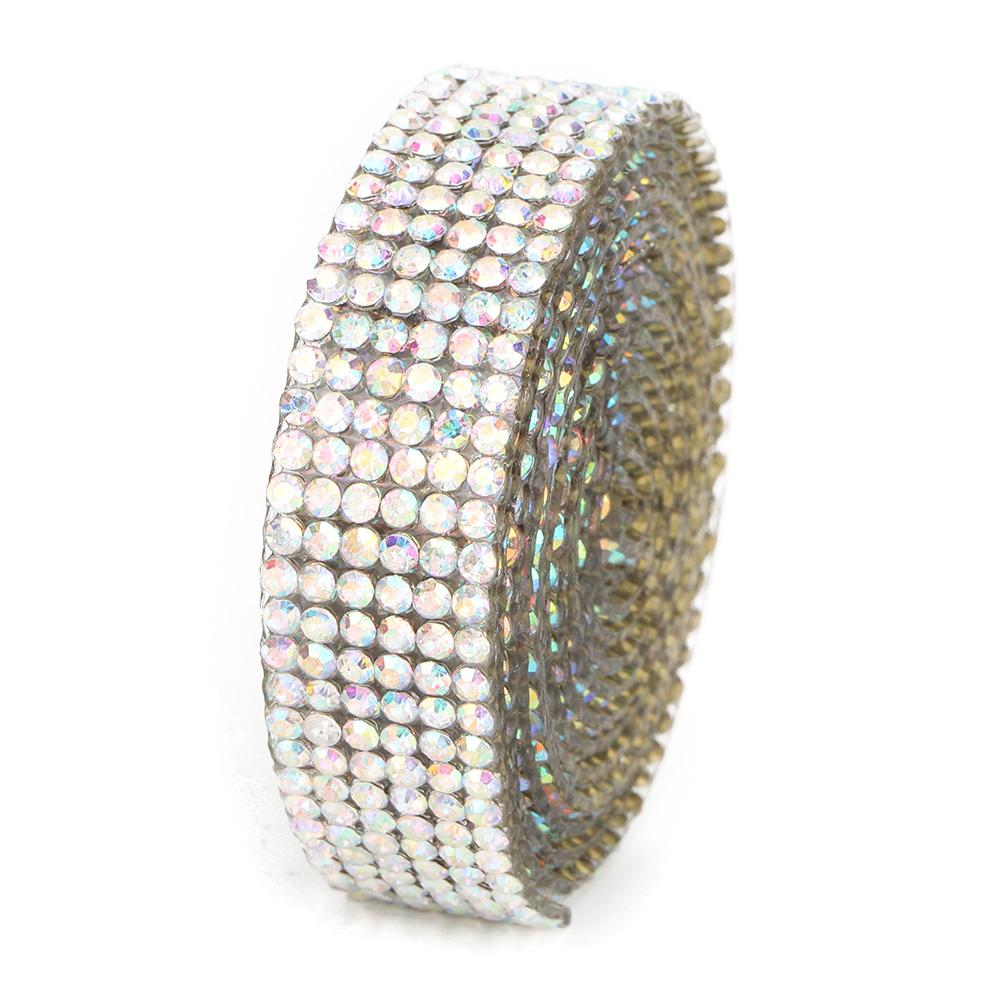 Diamond-Crystal-Glass-Mesh-Banding-Iron-On-Clothes-Wedding-Dress-Trim-Accessory thumbnail 12