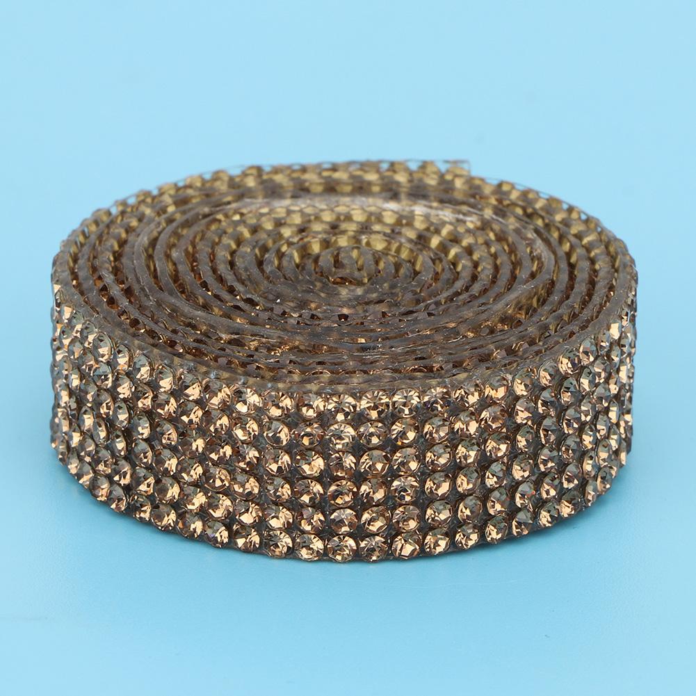 Diamond-Crystal-Glass-Mesh-Banding-Iron-On-Clothes-Wedding-Dress-Trim-Accessory thumbnail 14