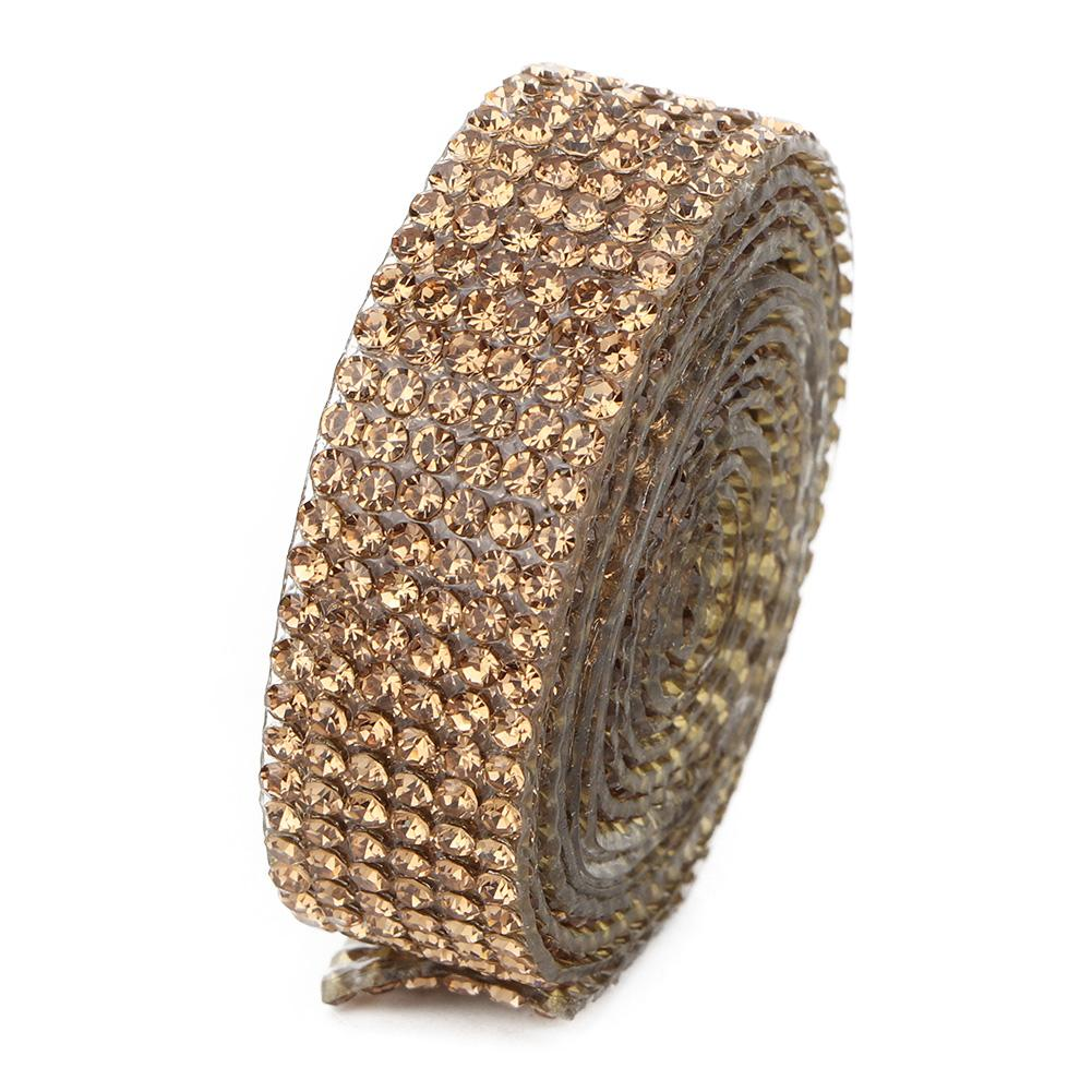 Diamond-Crystal-Glass-Mesh-Banding-Iron-On-Clothes-Wedding-Dress-Trim-Accessory thumbnail 15