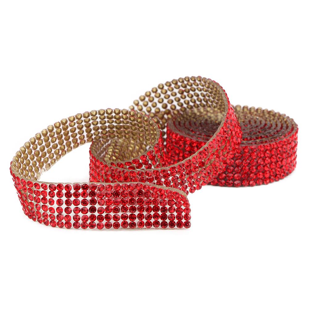 Diamond-Crystal-Glass-Mesh-Banding-Iron-On-Clothes-Wedding-Dress-Trim-Accessory thumbnail 23