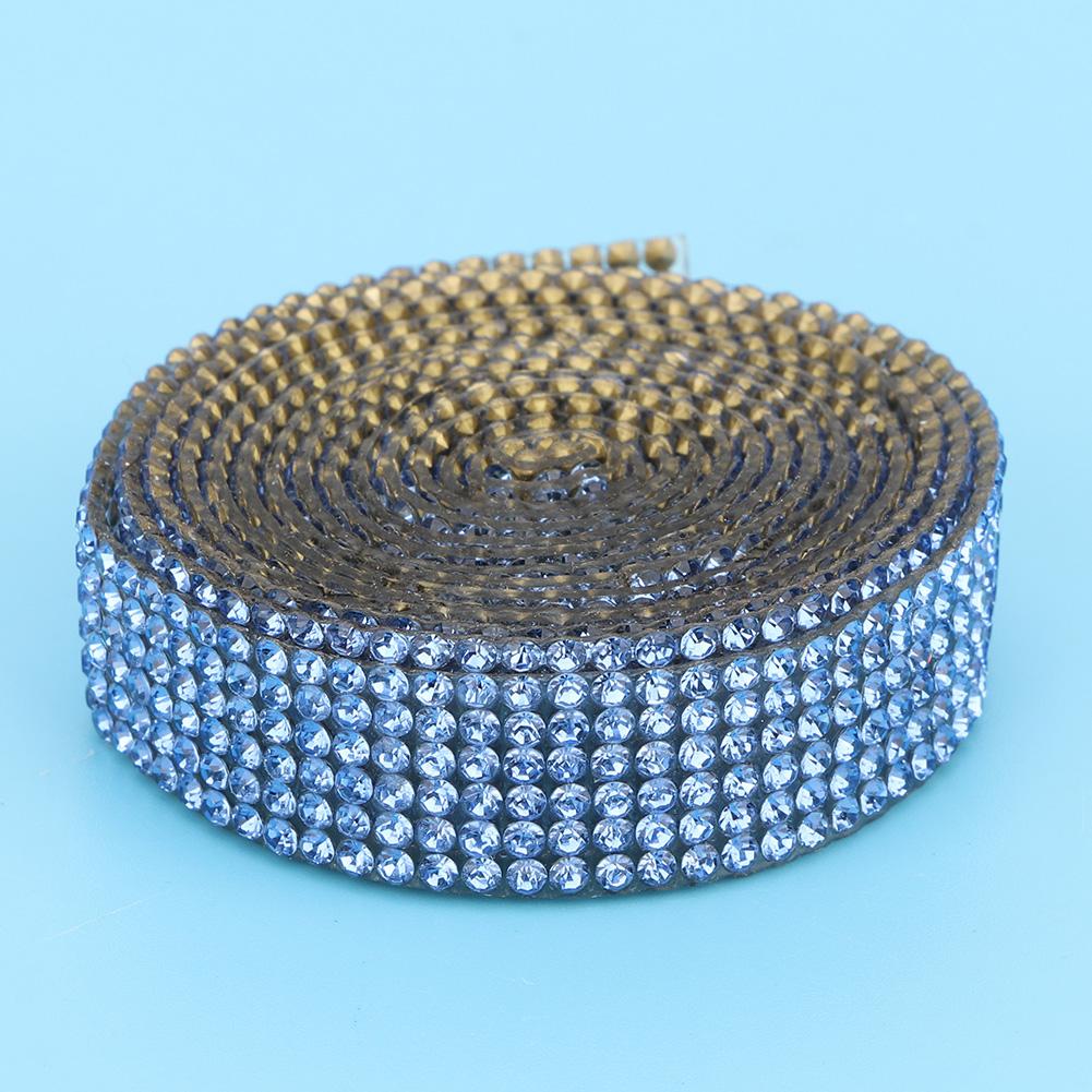 Diamond-Crystal-Glass-Mesh-Banding-Iron-On-Clothes-Wedding-Dress-Trim-Accessory thumbnail 26
