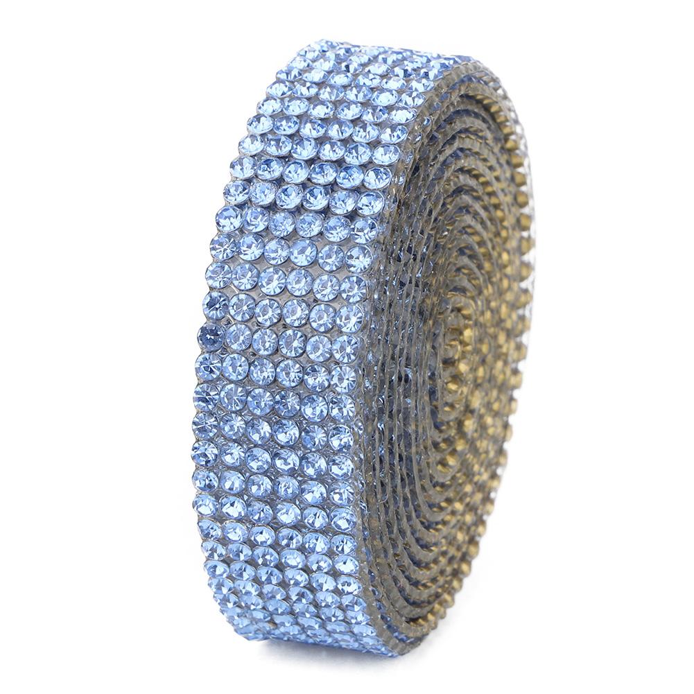 Diamond-Crystal-Glass-Mesh-Banding-Iron-On-Clothes-Wedding-Dress-Trim-Accessory thumbnail 27