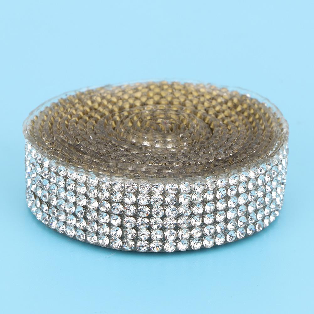 Diamond-Crystal-Glass-Mesh-Banding-Iron-On-Clothes-Wedding-Dress-Trim-Accessory thumbnail 29