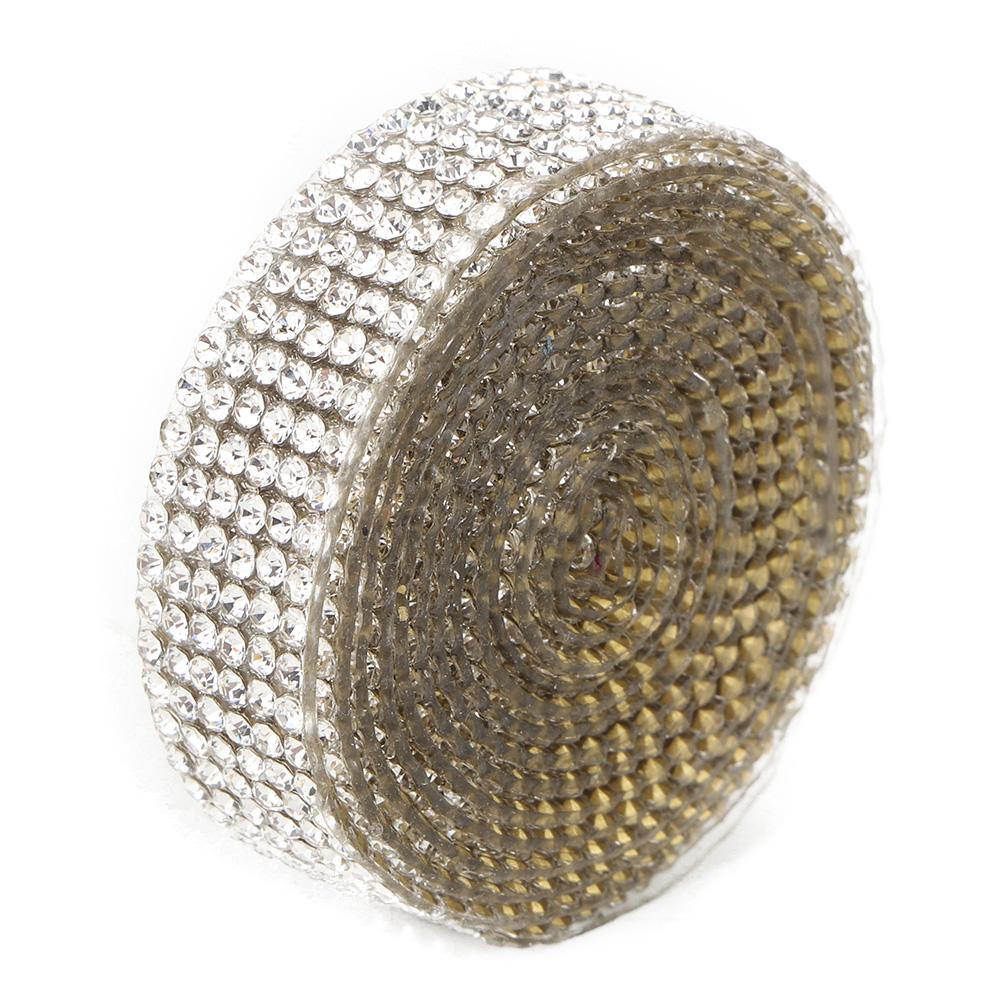 Diamond-Crystal-Glass-Mesh-Banding-Iron-On-Clothes-Wedding-Dress-Trim-Accessory thumbnail 30