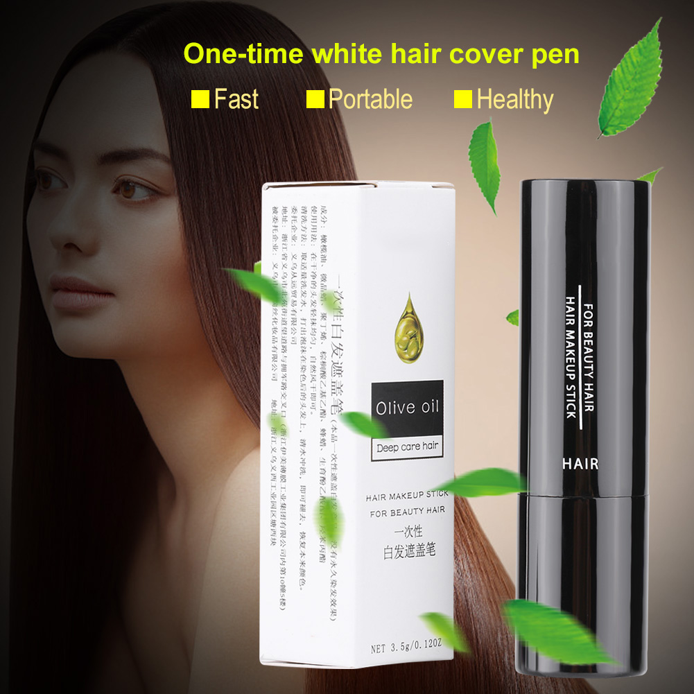 Temporary Makeup Cover Grey White Hair Touch Up Hair Dye Hair Color