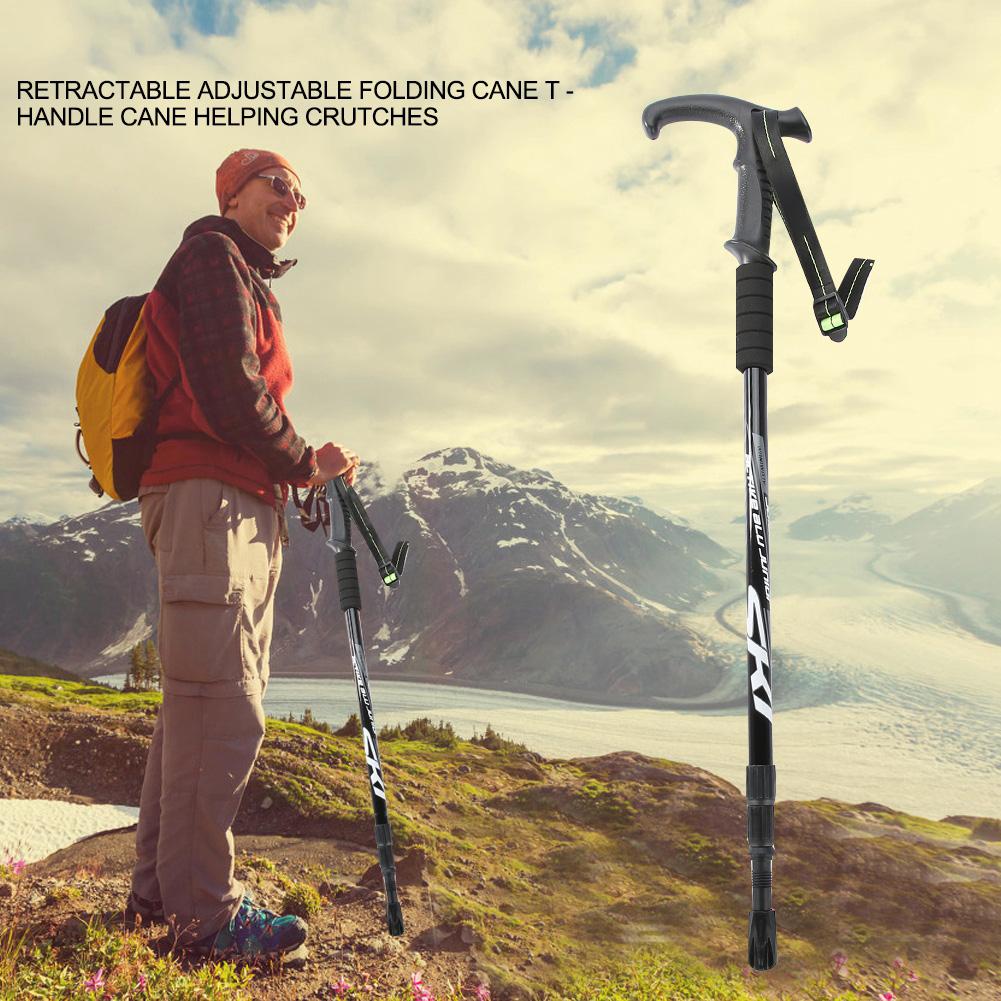 Manche-reglable-trekking-randonnee-reglable-Paire-batons-de-marche-telescopiques