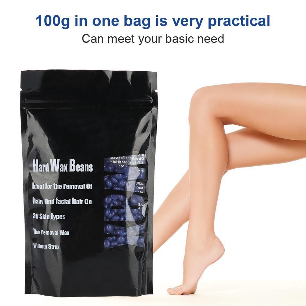 100g-Bag-Hard-Wax-Beads-Beans-Waxing-Hair-Removal-Brazilian-No-Strip-Wax-BO