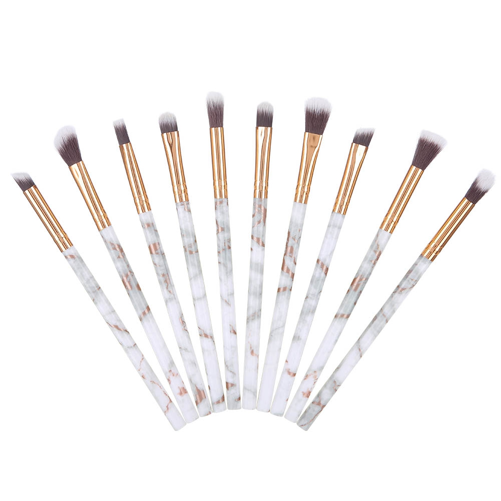 Pro-10Pcs-Marble-Makeup-Brushes-Set-Foundation-Powder-Eye-Shadow-Cosmetic-Brush