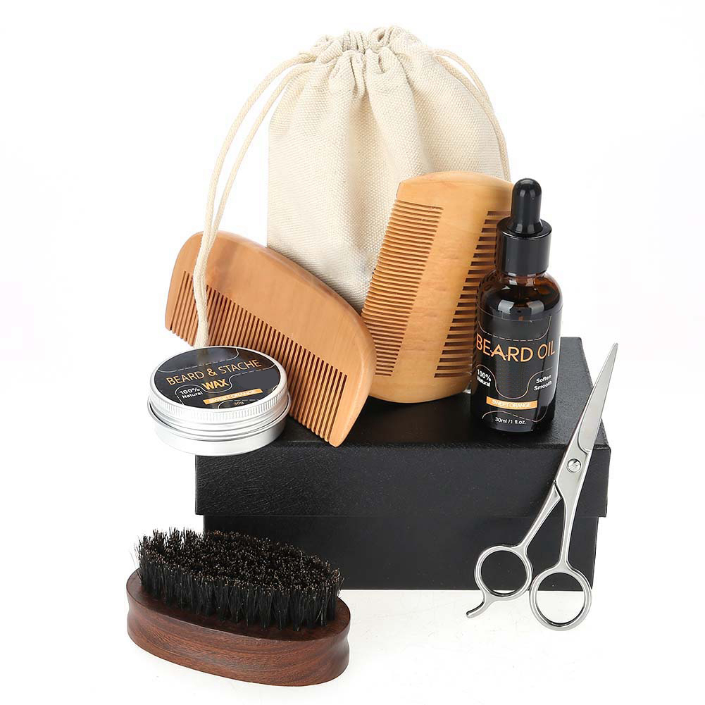 Beard-Grooming-Trimming-Kit-for-Men-Beard-Oil-Beard-Care-Styling-Shaping-Gift thumbnail 20