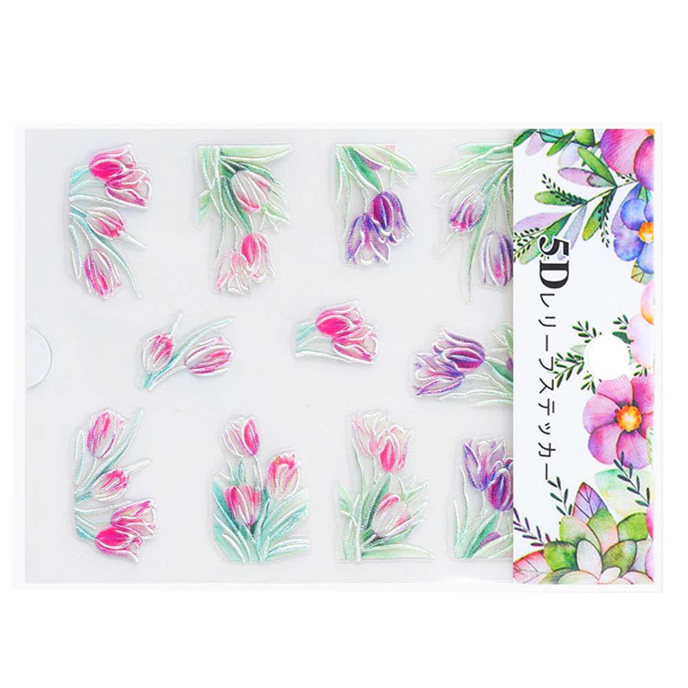 Nail-Art-Transfer-Stickers-50-Sheets-Flower-Decals-Manicure-Decoration-Tips thumbnail 14