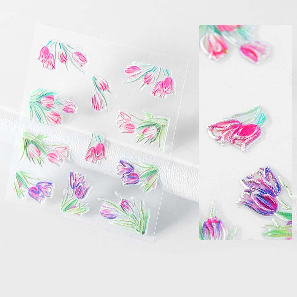 Nail-Art-Transfer-Stickers-50-Sheets-Flower-Decals-Manicure-Decoration-Tips thumbnail 15