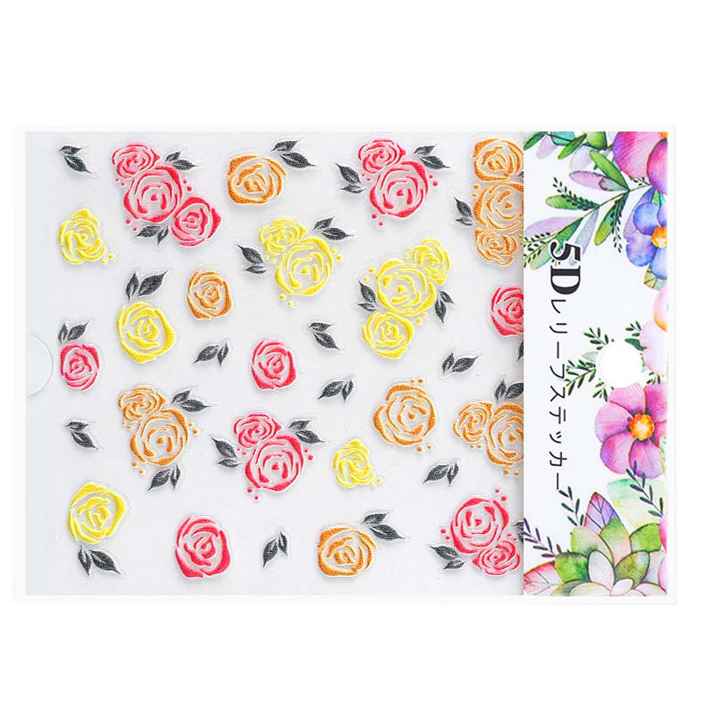 Nail-Art-Transfer-Stickers-50-Sheets-Flower-Decals-Manicure-Decoration-Tips thumbnail 23