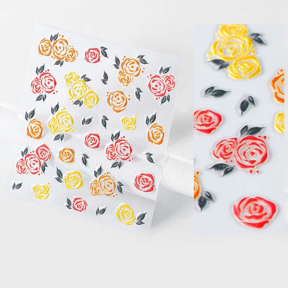 Nail-Art-Transfer-Stickers-50-Sheets-Flower-Decals-Manicure-Decoration-Tips thumbnail 24