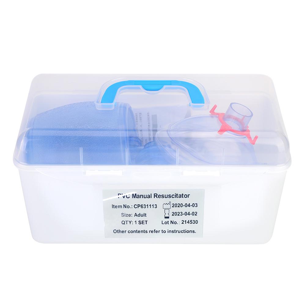 Manual-Resuscitator-PVC-Child-Ambu-Bag-Oxygen-Tube-First-Aid-kit-Profession thumbnail 18