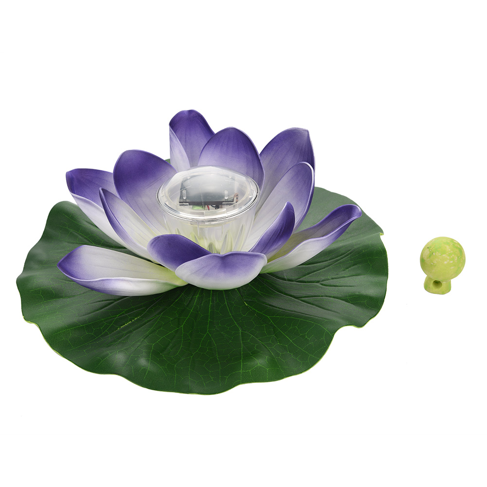 Solar power led color changing lotus flower floating lamp home solar power led color changing lotus flower floating mightylinksfo