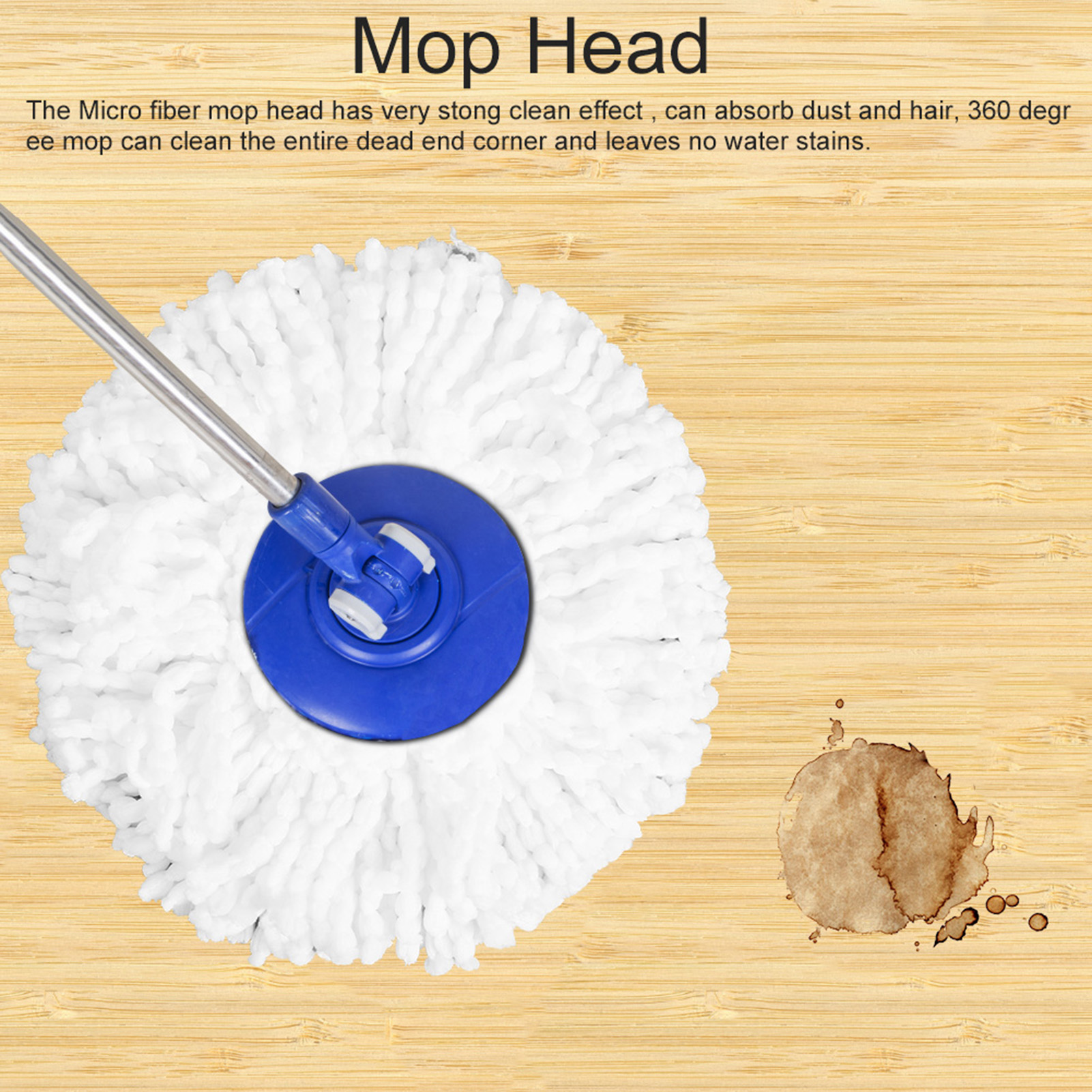 Spinning-Mops-Head-Microfiber-Refill-Rotating-360-Mop-for-Cleaning-AG thumbnail 10