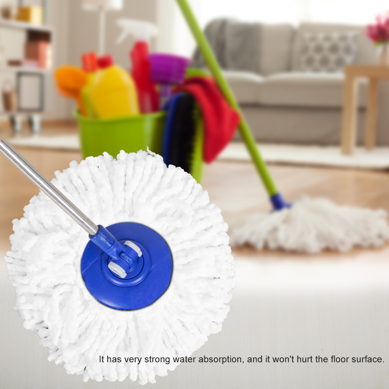 Spinning-Mops-Head-Microfiber-Refill-Rotating-360-Mop-for-Cleaning-AG thumbnail 11