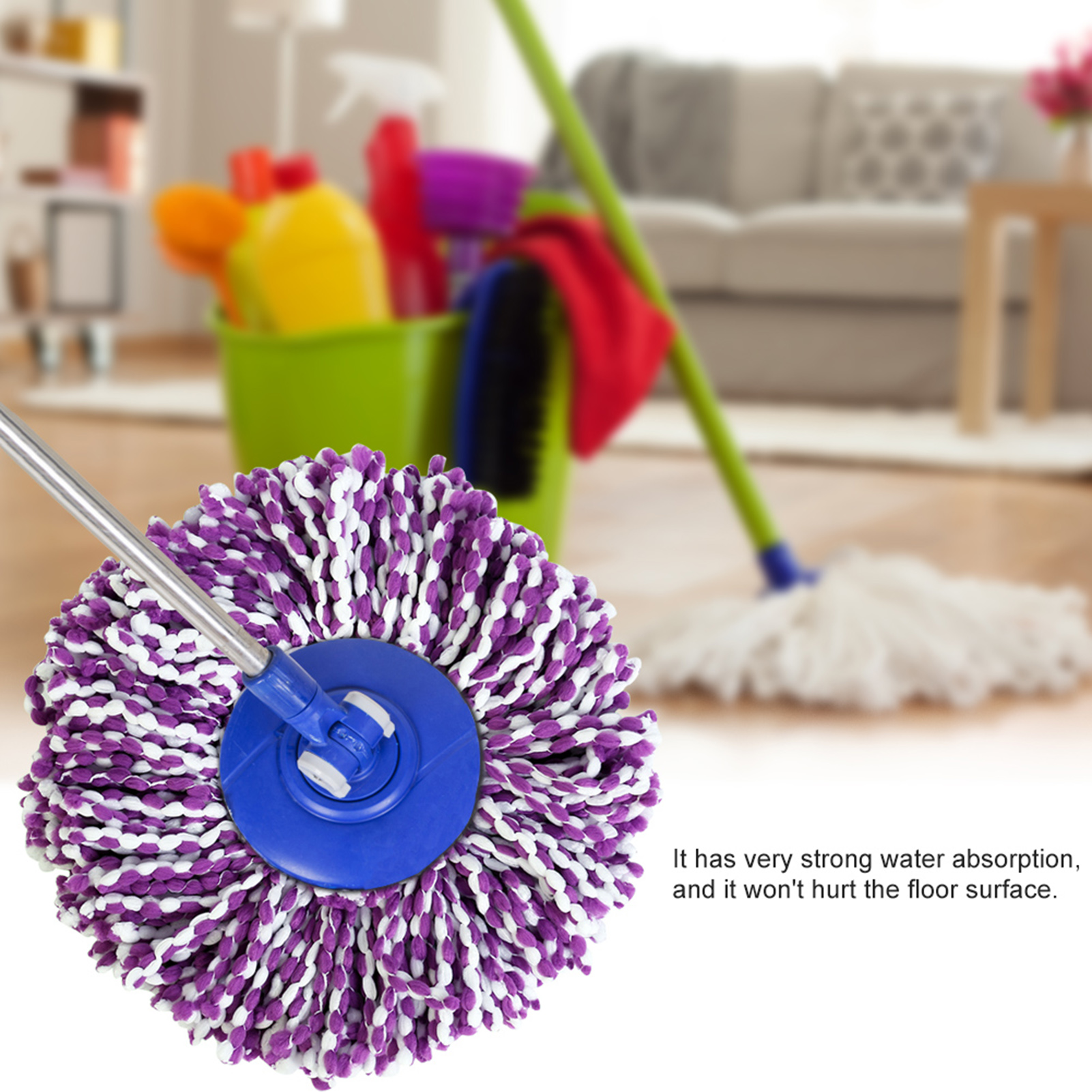 Spinning-Mops-Head-Microfiber-Refill-Rotating-360-Mop-for-Cleaning-AG thumbnail 14