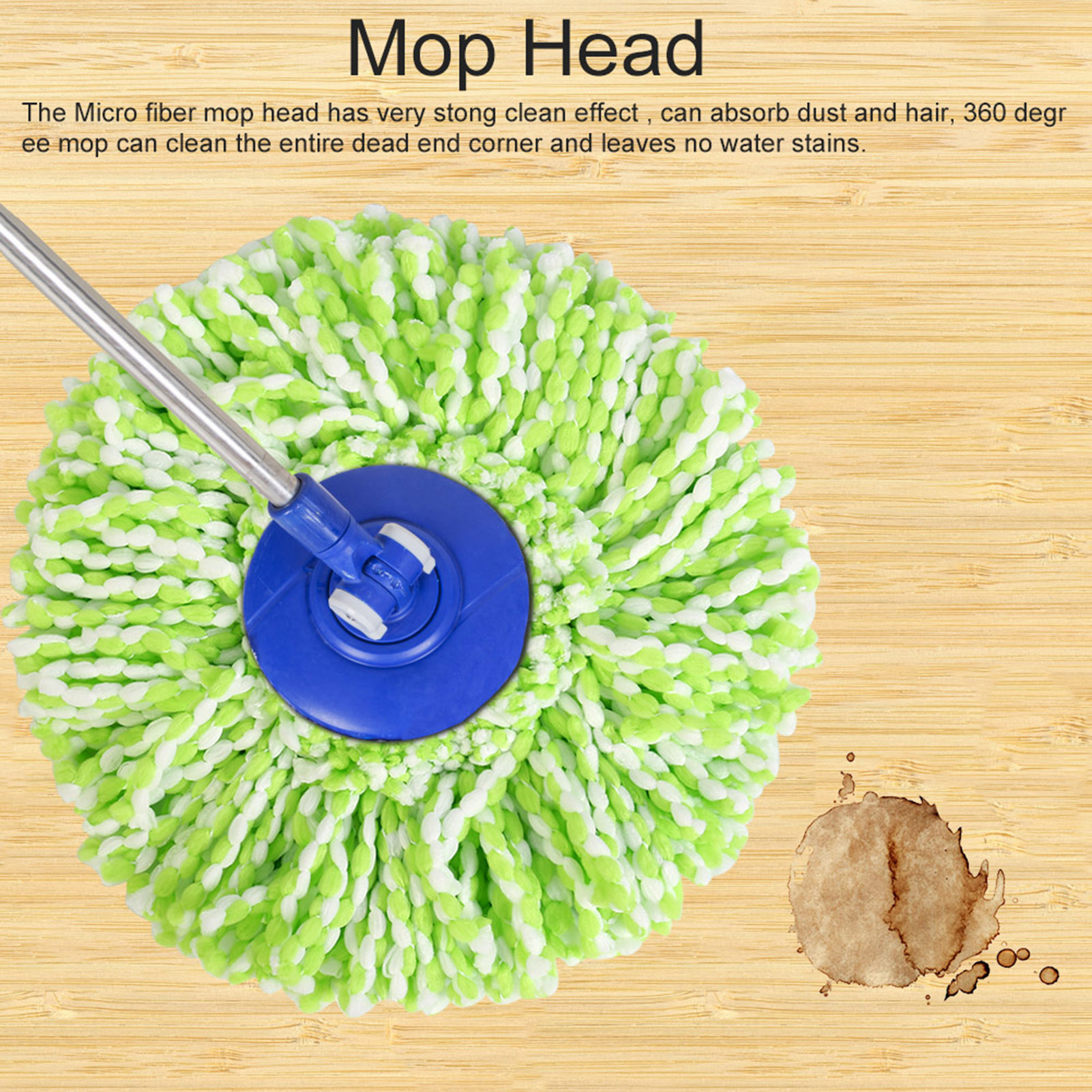 Spinning-Mops-Head-Microfiber-Refill-Rotating-360-Mop-for-Cleaning-AG thumbnail 19