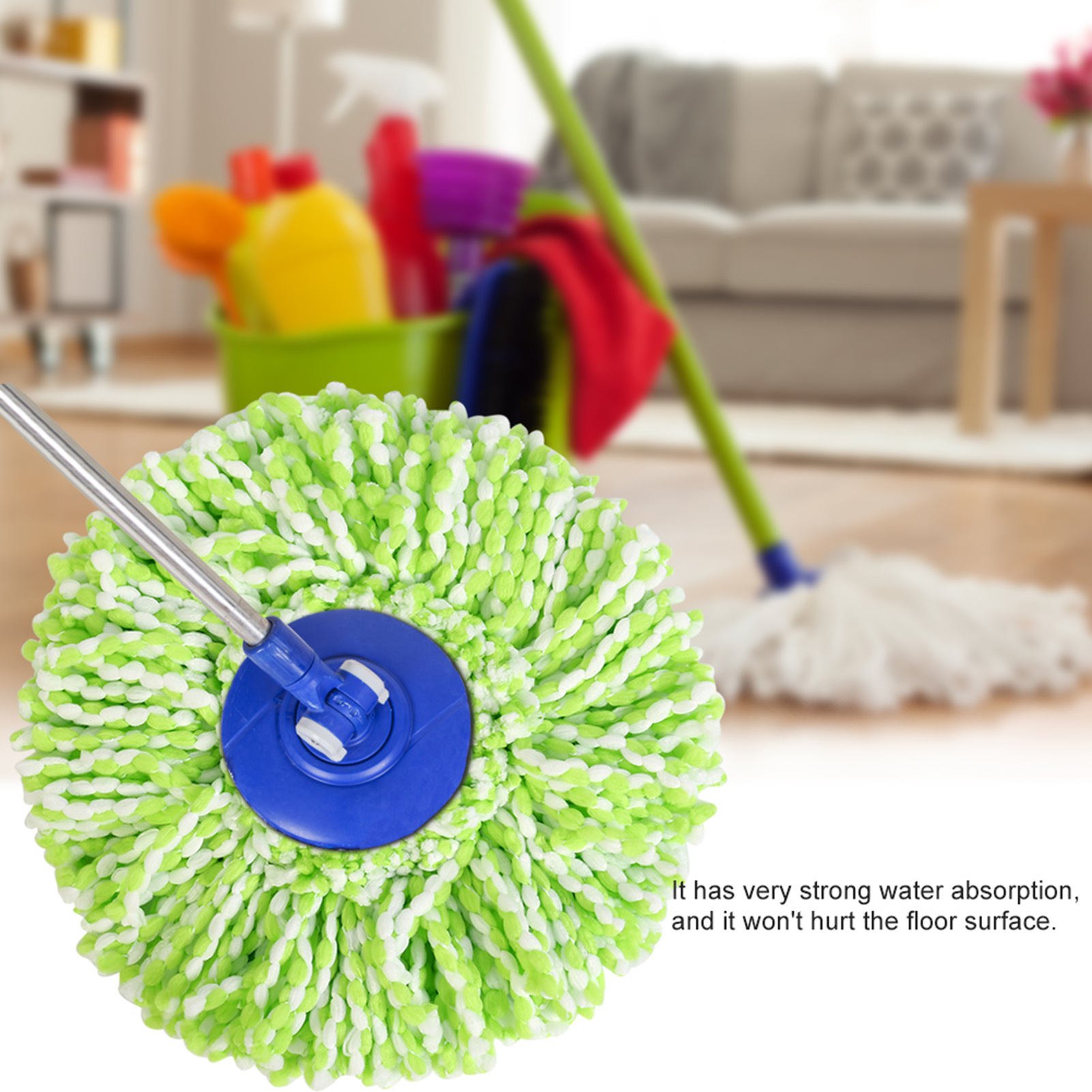 Spinning-Mops-Head-Microfiber-Refill-Rotating-360-Mop-for-Cleaning-AG thumbnail 20