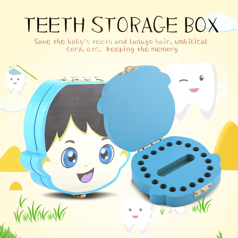 Baby-Tooth-Box-Organizer-Save-Milk-Teeth-Wood-Boy-Girl-Kids-Fairy-Storage-Case
