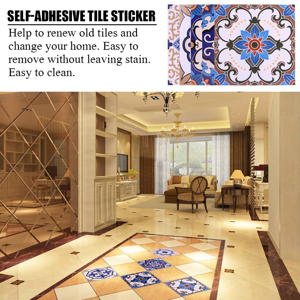 10pcs 3D Mosaic tile stickers transfers DIY Kitchen Bathroom Vinyl ...