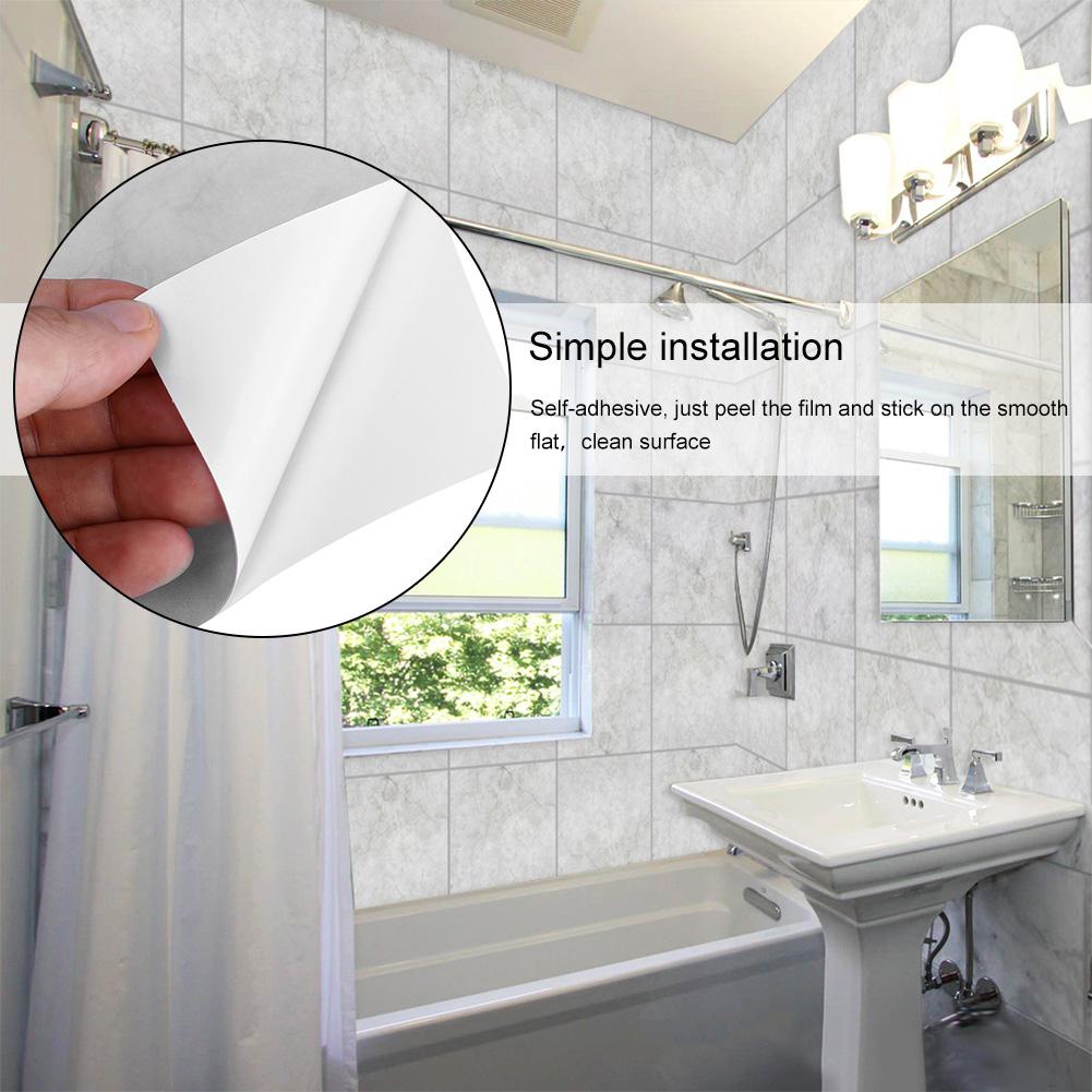 Self-adhesive Wall Tile Mosaic DIY Sticker Kitchen Bathroom ...