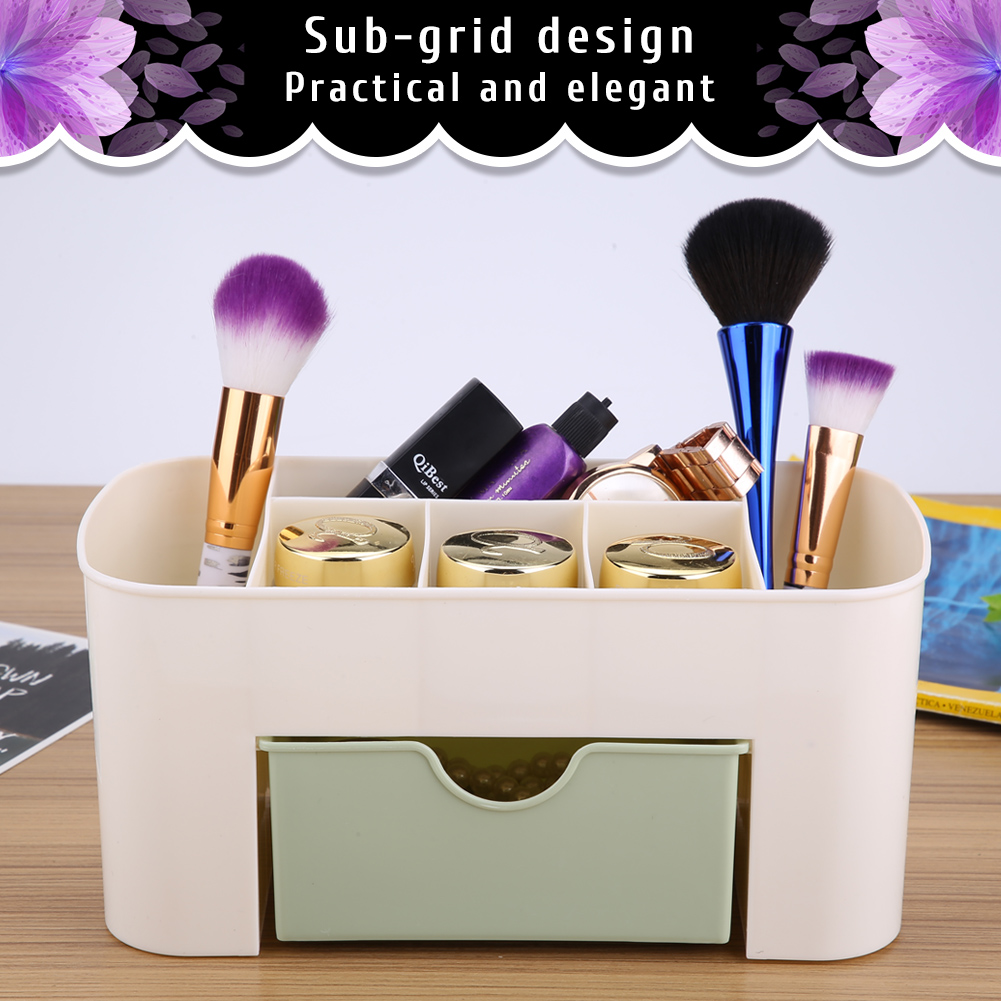 Desktop-Storage-Box-Home-Desk-Makeup-Storage-Box-Organizer-Drawer-Holder-New thumbnail 14