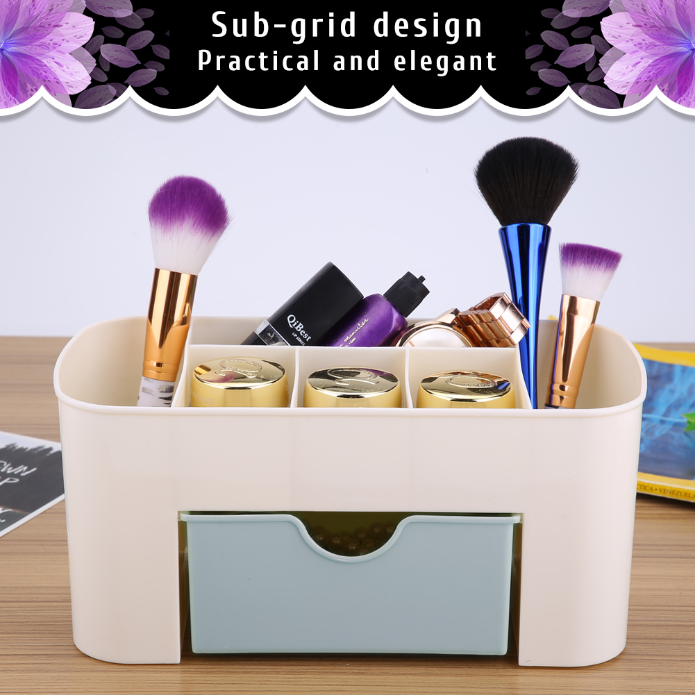 Desktop-Storage-Box-Home-Desk-Makeup-Storage-Box-Organizer-Drawer-Holder-New thumbnail 17