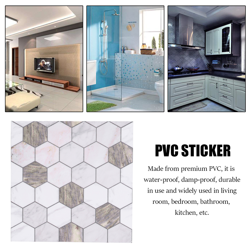 Self-adhesive Wall Tile Mosaic DIY Sticker Kitchen Bathroom ...