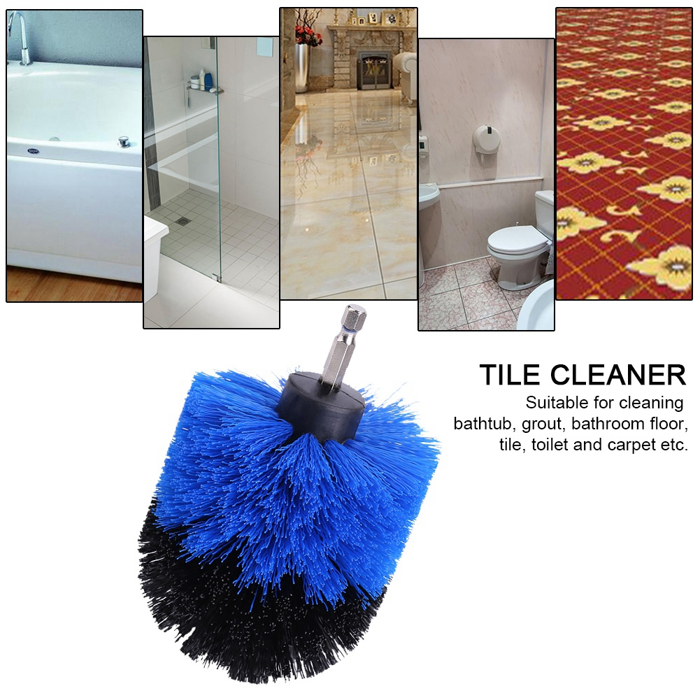 1/3x Power Scrubber Brush Set For Cleaning Bathroom Kitchen Tiles ...
