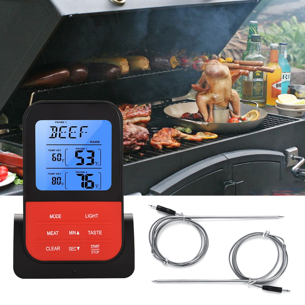 Digitale termometro timer per alimenti grigliata cucinare for Cucinare per 20 persone