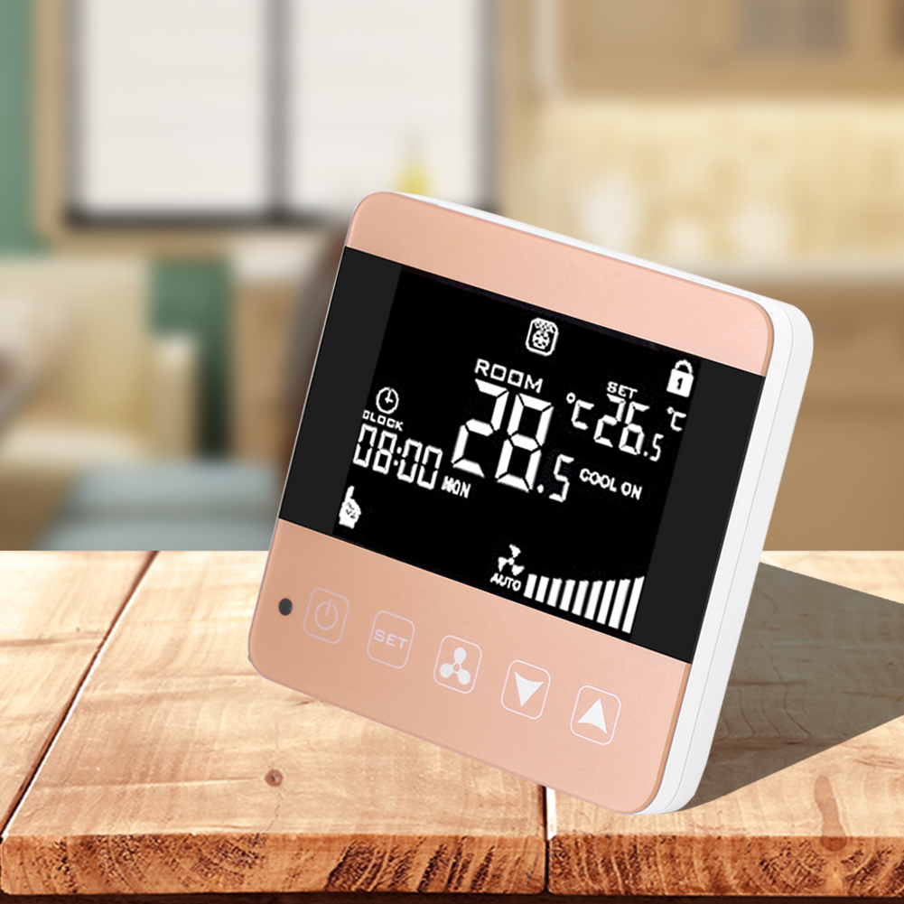 Touch Lcd Display Central Air Conditioner Thermostat Room Temperature Controller