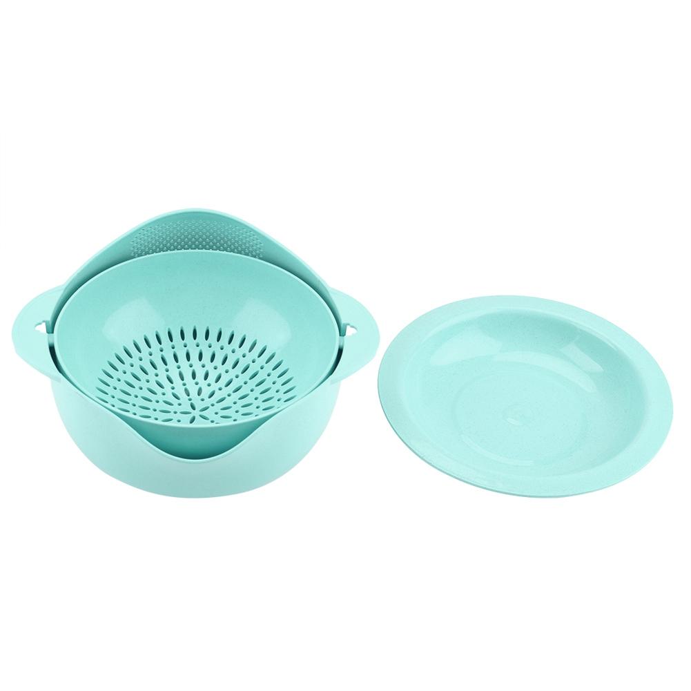 Double-layer Round Draining Basket Kitchen Bracket For Washing Fruit ...